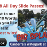 big splash canberra facebook competition Nov 2014