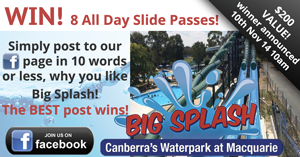 Big Splash Facebook competition Nov 2014